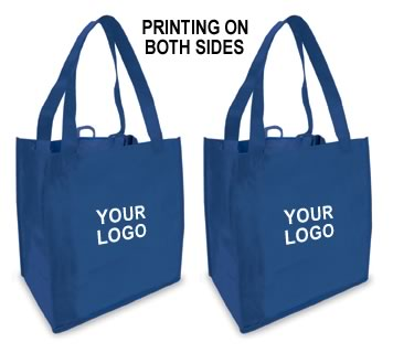 Blue) Printing On Both Sides :: Custom Reusable Shopping Bag (1 ...