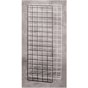 Wire Grid Panel | White 56 X 18 Double Wire Grid Panel 20 698 Grid And Slat Walls