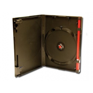 clear single red clip dvd case 100 pc 50 257 security cases keys