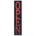 "Vertical ""Open"" Led Sign"