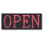 "Horizontal ""Open"" Led Sign"