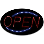 "Oval ""Open"" Led Sign"