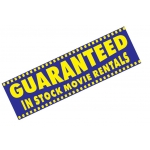 **Blowout*3X10-Garnted Stock Movie Rntls
