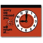 Retun Clock (Red)