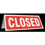 Table Tent Sign-Closed