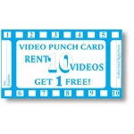 10 Punch Video Card (Stock-500Pcs)