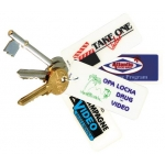 2-Color Membership Key Tag W/ Barcode