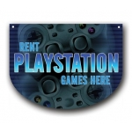 ***Closeout*** (Playstation) Hanging Vid Game Area Sign