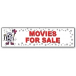 ***Closeout*** (Movies For Sale) Character Decor Sign
