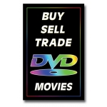 "(14""X22"") Buy-Sell-Trade Dvd Movie Sign"