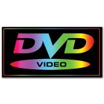 (Blk/Rnbw Dvd Video)Rect Hang Decor Sign
