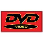 (Red/Blk Dvd Video) Rect Hang Decor Sign