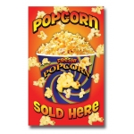"(14""X22"") Popcorn Sold Here Sign"