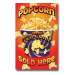 "(22""X28"") Popcorn Sold Here Sign"
