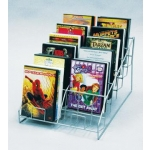 (Silver) 12 Pocket Counter Cd/Dvd Display