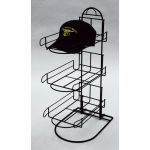 (Black) 3-Pocket Hat/Cap Counter Display
