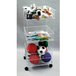 Dump Bins (White) Tri-Level Mobile Dump Bin