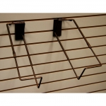 (Ant. Bronze) Adjustable Slatwall Basket Holder Set