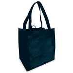 Shopping Bags (100 Per Case) Black Reusable & Recyclable Shopping Bags
