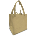 Reusable Shopping Bags (100 Per Case) Tan Recyclable & Reusable Shopping Bags