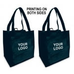 (Black) Printing On Two Sides :: Custom Reusable Grocery Bag (1 Color/2 Sides)
