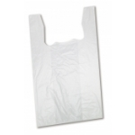 Wholesale T-Shirt Style Shopping Bags (White) Standard-Size Plastic T-Shirt Bags