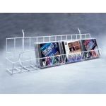 "(White) Grid-24"" Dvd/Cd Shelf"