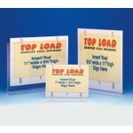"7"" W X 5 1/2"" H Top Load Sign Holder"