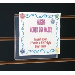 "7"" H X 5 1/2"" W Hanging Sign Holder"