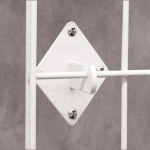 (White) Grid Panel Wall Hook