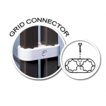 "(Black) Grid Panel Connector(1"" To 1""Sq)"