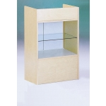 Maple Well-Top Register Stand W/Glass Fr