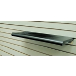 "(Black) 24"" X 13"" Plastic Bullnose Shelf"