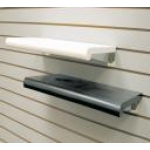 "(Black) 48"" X 13"" Plastic Bullnose Shelf"