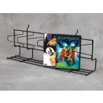 "(Black) 24"" Slatwall - Angled Dvd Shelf"