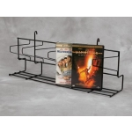 "(White) 24"" Gridwall - Angled Dvd Shelf"