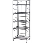 (Black) 5-Tier Adjustable Merchandiser