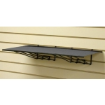 "(Black) Slat-23"" Sheet Metal Shelf"