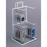 "4-Peg 8.5"" Tall Counter Rack (White)"