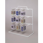 12 Peg Loop Hook Rack (White)
