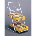 Slant Back Counter Rack (White)