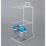 "(White) 4 Peg - 11 1/4"" H Counter Rack"