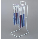 "(White) 2 Peg - 11 1/4"" H Counter Rack"