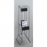 2 Pocket Digest Rack (Black)