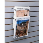 (Black) Slat-Nesting Literature Pocket