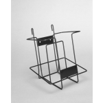 (Black) Single Pocket Magazine Rack