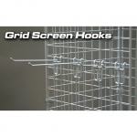 "(White) 3"" Grid Screen Hook"