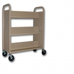 3 Shelf / 1-Sided Mobile Cart