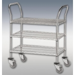 (Chrome) 3-Shelf Utility Cart