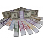 $50.00 Currency Strap-Orange (1000 Pcs)